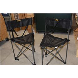 Two Cabela Folding Chairs