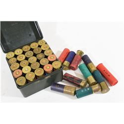 35 Rounds Assorted 12ga with Ammo Box