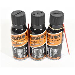 3 Cans Brunox Gun Oil