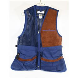 Left Handed Medium Blue Shooting Vest