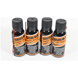 4 Cans Brunox Gun Oil