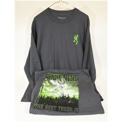 2 Browning Long Sleeve Shirts XL / TG
