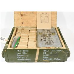 1340 Rounds 7.62x39 Ball Ammo in Crate