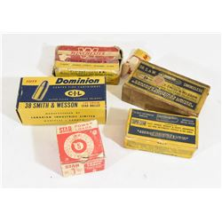Pistol Ammo in Vintage Boxes