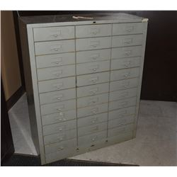 33 Drawer Metal Cabinet