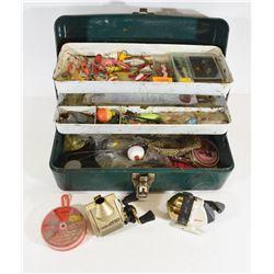 Vintage Mermaid Tackle Box With Tackle