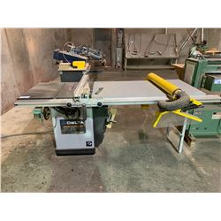 DELTA UNISAW 10  TILTING TABLE SAW WITH EXCALIBUR DUST COLLECTION GUARD