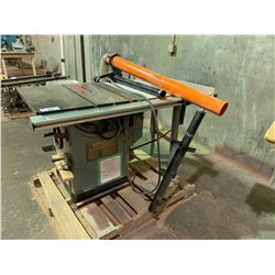 DELTA UNISAW 10  TILTING TABLE SAW WITH EXAKTOR DUST COLLECTION GUARD