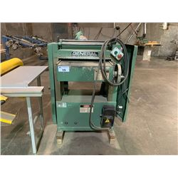 "GENERAL INTERNATIONAL MODEL 30-325HCM2 3PH 5HP 230V 3460RPM 20"" BED SINGLE SURFACE PLANER"