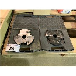 PAIR OF LEFT & RIGHT INDUSTRIAL SHAPER BLADES