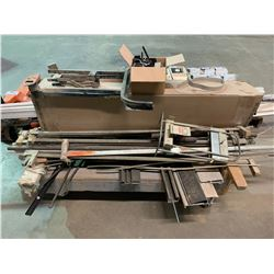 MOBILE CART WITH DOOR JAMS, CLAMPS, TABLE PARTS & WEATHER STRIPPING