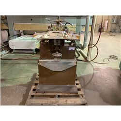 DESOUTTER DUAL HEAD HORIZONTAL DRILL PRESS WITH FOOT CONTROL