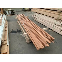 STACK OF ASSORTED SOLID WOOD TRIM