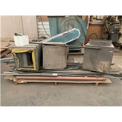 PALLET OF SHOP HEATER PARTS & PIPING