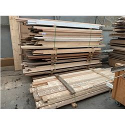 STACK OF ASSORTED FRAME WOOD & TRIMS