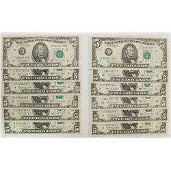 COMPLETE SET OF 1988-A FEDERAL RESERVE NOTES