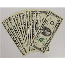 SET OF 12 $5.00 1995 FEDERAL RESERVE NOTES