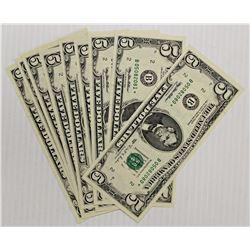 RARE! TEN 1995 $5.00 NEW YORK STAR NOTES