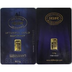 TWO GOLD BARS EACH IS HALF A GRAM