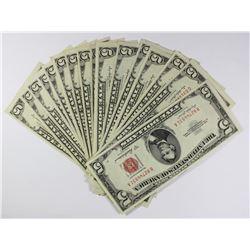 (16) 1953-A $5.00 U.S. NOTES
