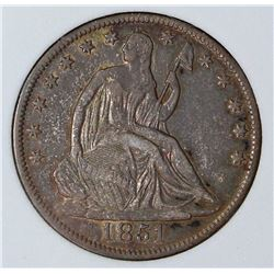 1851-O SEATED HALF DOLLAR