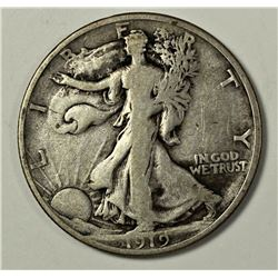 1919-D WALKING LIBERTY HALF DOLLAR