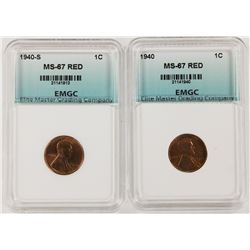 1940 AND 1940-S LINCOLN CENTS