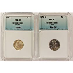 LINCOLN CENT & MERCURY DIME