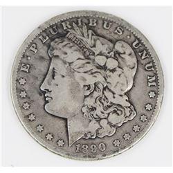 1890-CC MORGAN SILVER DOLLAR FINE