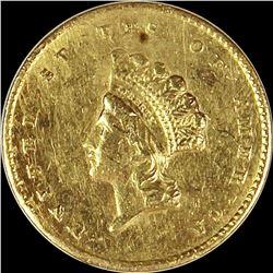 1855 GOLD DOLLAR TYPE 2