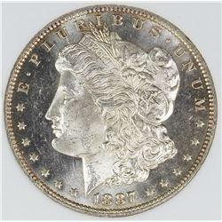 SPECTACULAR 1887-O MORGAN SILVER DOLLAR