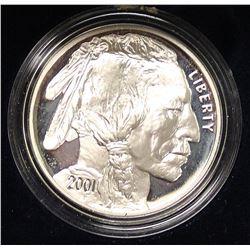 2001 PROOF BUFFALO SILVER DOLLAR