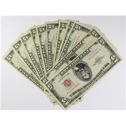 (11) 1953-B $5.00 U.S. NOTES