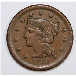1857 LARGE CENT LARGE DATE