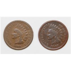 1866 AND 1867 INDIAN HEAD CENTS