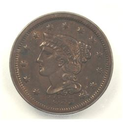 1855 LARGE CENT UPRIGHT 5'S