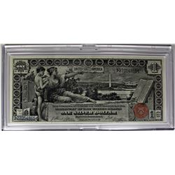"1896 $1.00 SILVER CERTIFICATE ""EDUCATIONAL"""