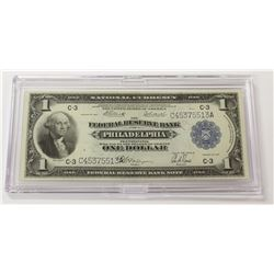 1918 $1.00 PHILADELPHIA FEDERAL RESERVE NOTE