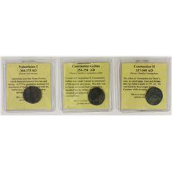 THREE ANCIENT COINS