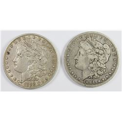 1894-O AND 1892-O MORGAN SILVER DOLLARS