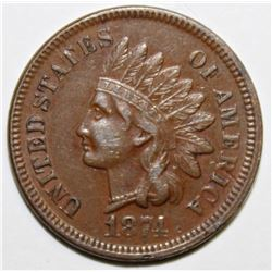 1874 INDIAN CENT