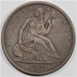 1860-O SEATED HALF DOLLAR