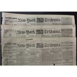 3 DIFFERENT CIVIL WAR NEWSPAPERS