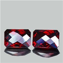 Natural Red Mozambique Garnet Pair 10x7 MM - Untreated