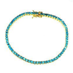 Natural Paraiba Brazil Blue Apatite Bracelet