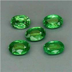Natural Top Green Tsavorite Garnet 5Pcs/2.30Ct