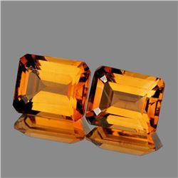 NATURAL GOLDEN ORANGE CITRINE PAIR - FL