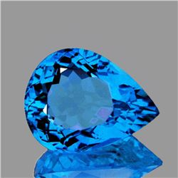 NATURAL INTENSE SWISS BLUE TOPAZ 16x12 MM - FL