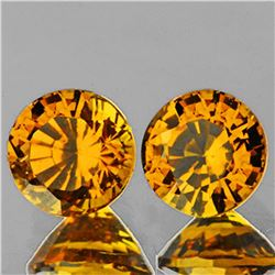 Natural AAA Golden Yellow Mali Garnet Pair - Flawless