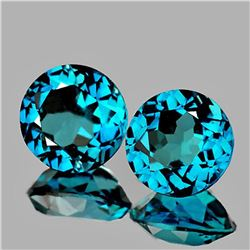 NATURAL AAA LONDON BLUE GREEN TOPAZ PAIR - FL